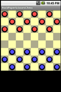 A board view laid out as a game of draughts
