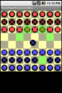The valid moves are highlighted on the board